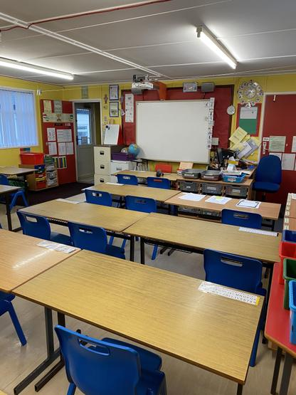 This is your new P5 classroom looking to the from front