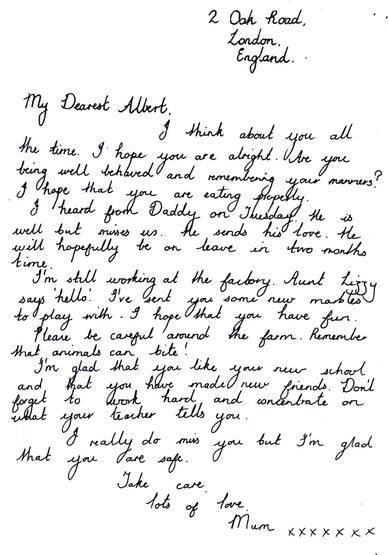 Evacuees letter