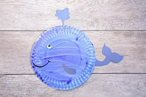 Paper Plate Whale!