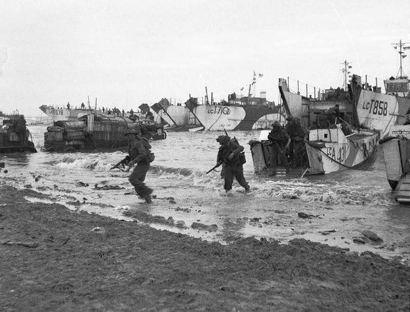 British forces invasion at Normandy