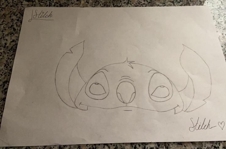 "Phoebe drew ""Stitch�"