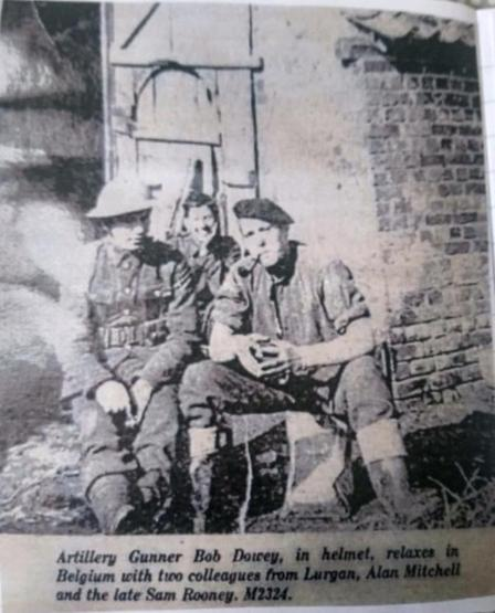 Jack W's great grandfather at the front in Belgium