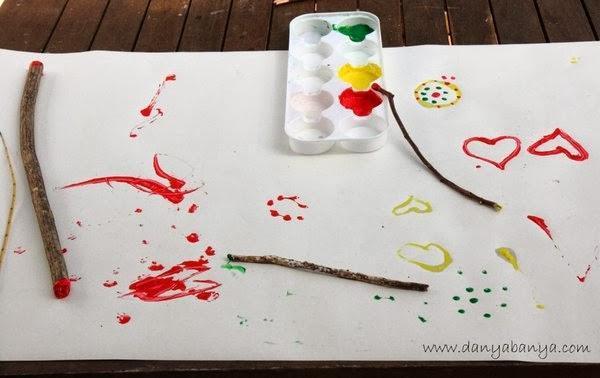Stick painting!