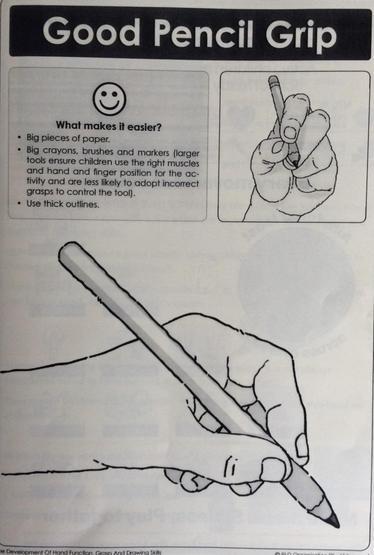 *Left hand pencil grip