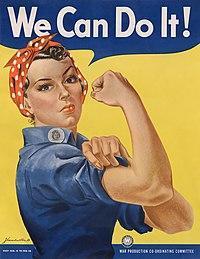 Women went to work in factories during WW2