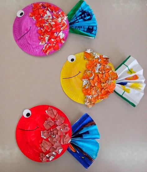 Friendly paper plate Fish!