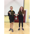 Ellie Cousins and Tilly Douglas Girls' Sports Cup