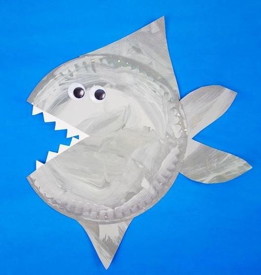 Paper Plate Shark!