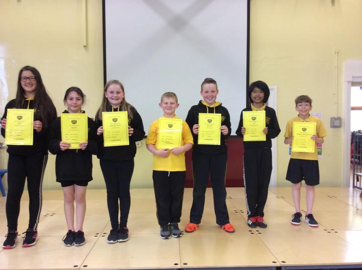 Mr Mawhinney Curriculum Class Winners