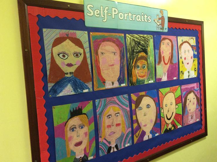 P4G oil pastel self portraits
