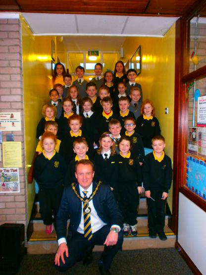 The 2014/15 School Council with Mr Colin McCusker