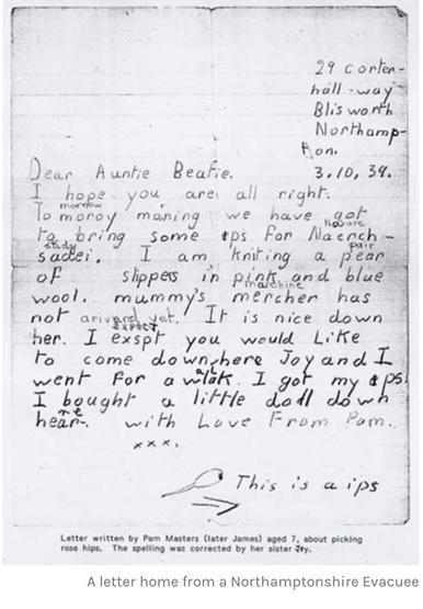 Evacuees letter 4