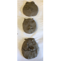 Our wet clay Animal Faces