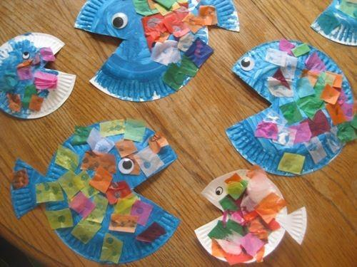 Paper Plate Fish!