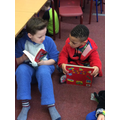 It was great fun to read to each other