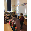 We had a visitor to show us a micro book...tiny!