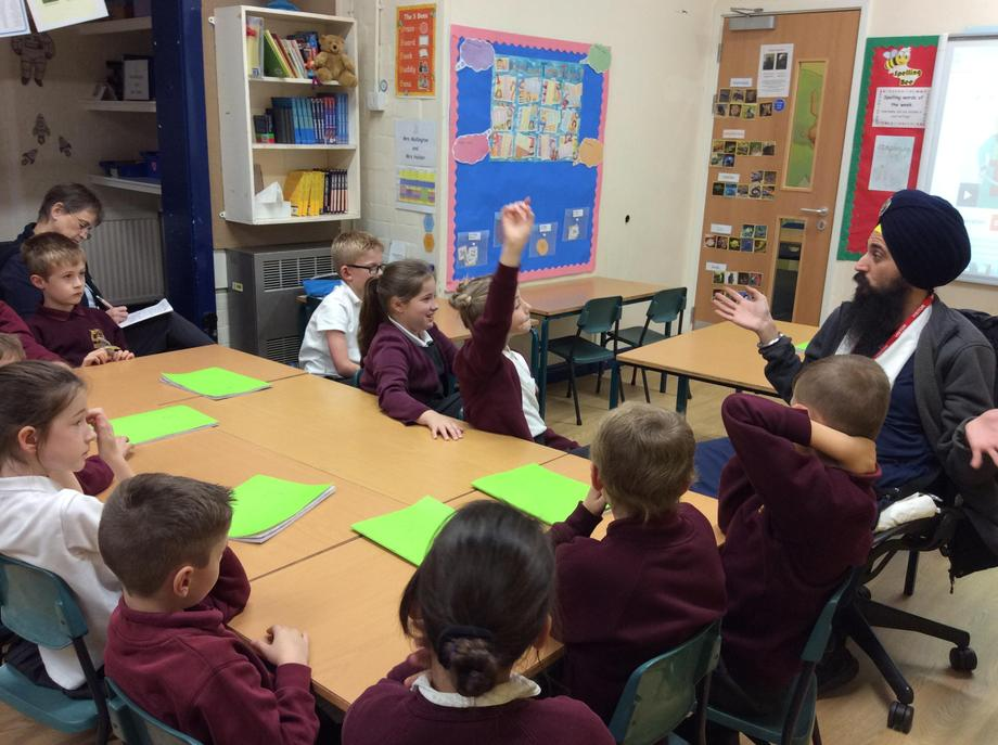 Year 4 shared their knowledge about Sikhism