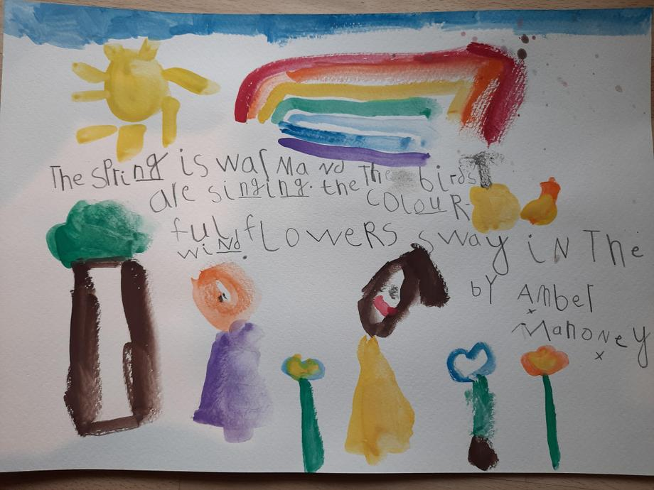 Amber's Spring poem & picture