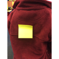 We labelled our bodies with sticky notes.