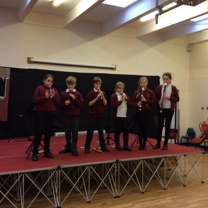 Miss Keeble's Recorder players