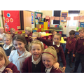 Acting out 'We're going on a bear hunt'