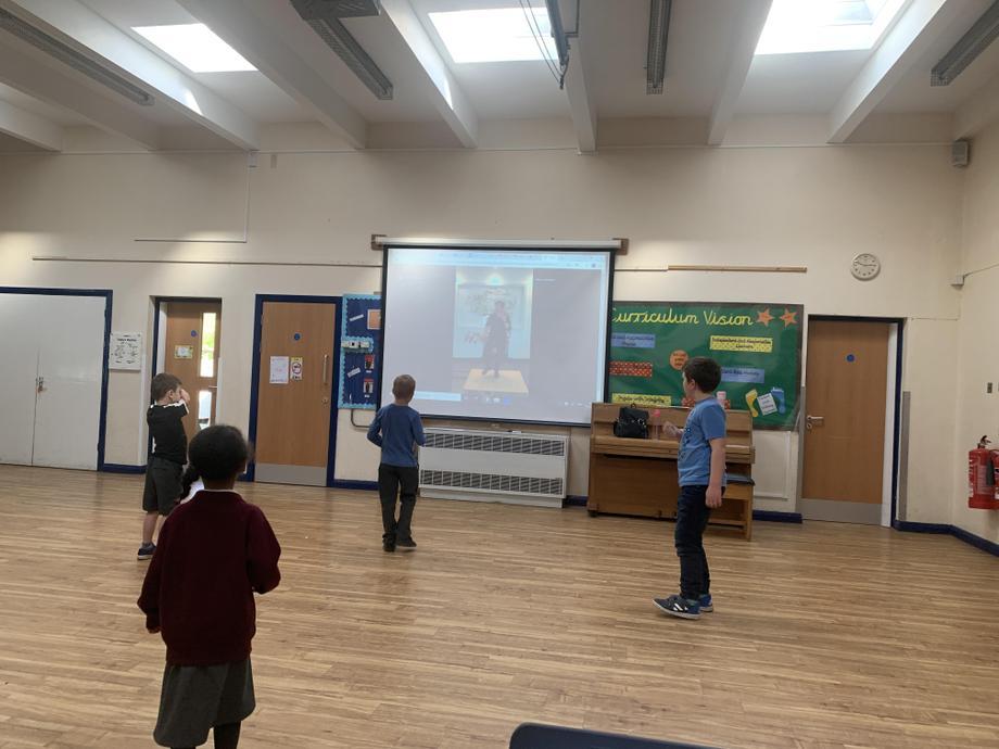 We learned some tap moves alongside Adam Garcia!