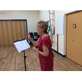 Mrs. Thom in full voice!
