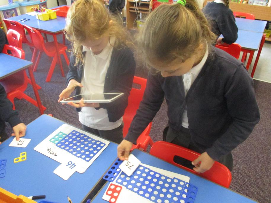 Challenge learning: Revising using Numicon to make numbers