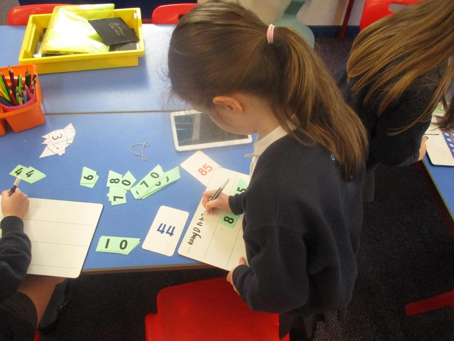 Challenge learning: Revising using arrow cards - using tens and ones.