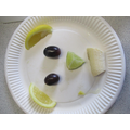 We designed and made our own fruity faces!