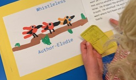 We wrote about what we liked about each other's stories or what they could improve.