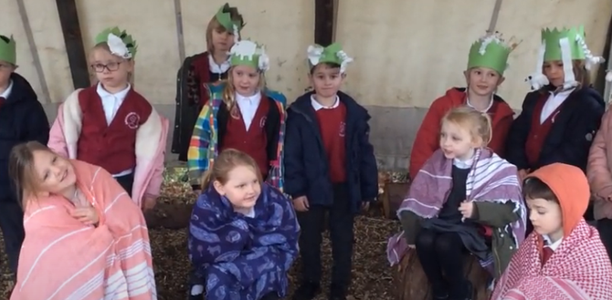 We acted out the Christmas Nativity story.