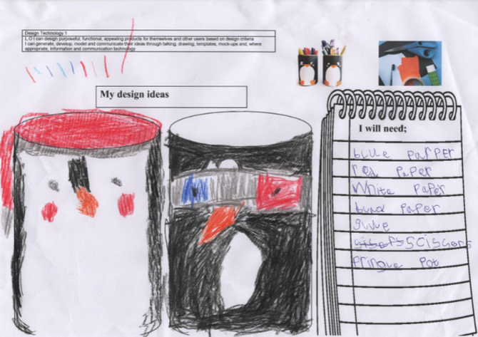 We planned, made and evaluated our penguin pots.