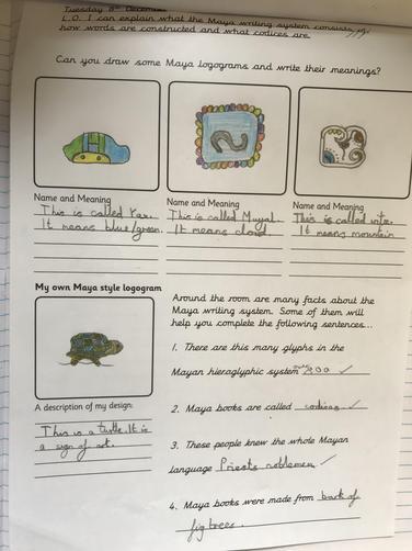 Exploring the hieroglyphs of the Mayans.
