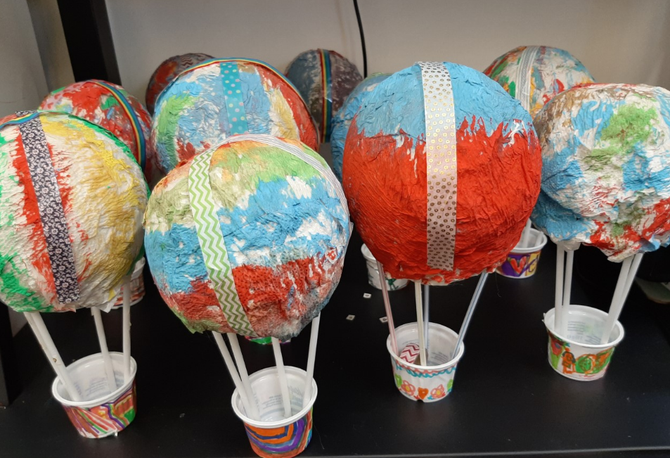 Our amazing hot air balloons!