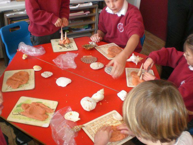 Making fossil imprints