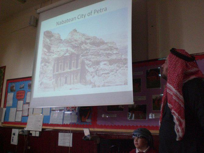 We learned about famous places in Jordan
