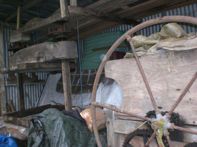 We were shown an old cider machine