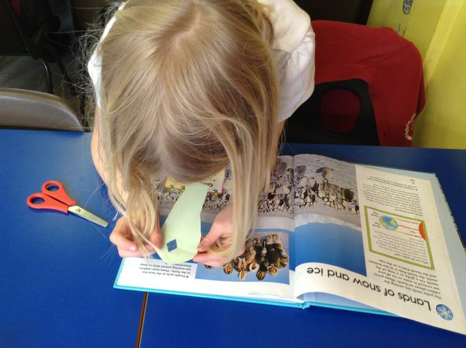 We used our magnifying glasses to read