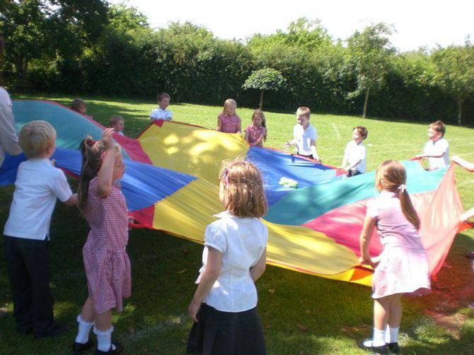 We had a good game of 'bouncing bear'