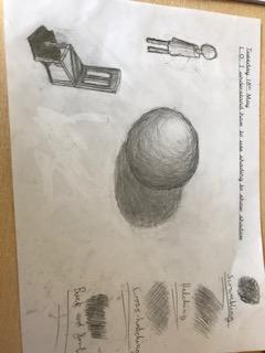 Today we thought about how to use shading to depict shading in line drawings
