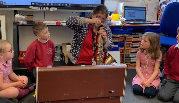 We found out how to put together some instruments and what the parts are called.