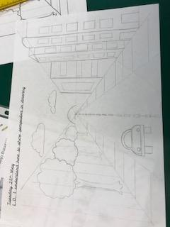 We learnt about perspective by thinking about the horizon and vanishing points in pictures
