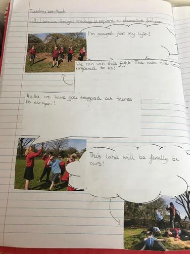 Using freeze frames and thought tracking to explore a character's feelings
