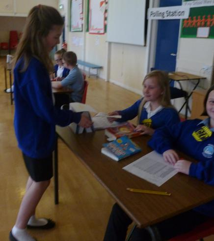 Our own KS2 elections and polling station