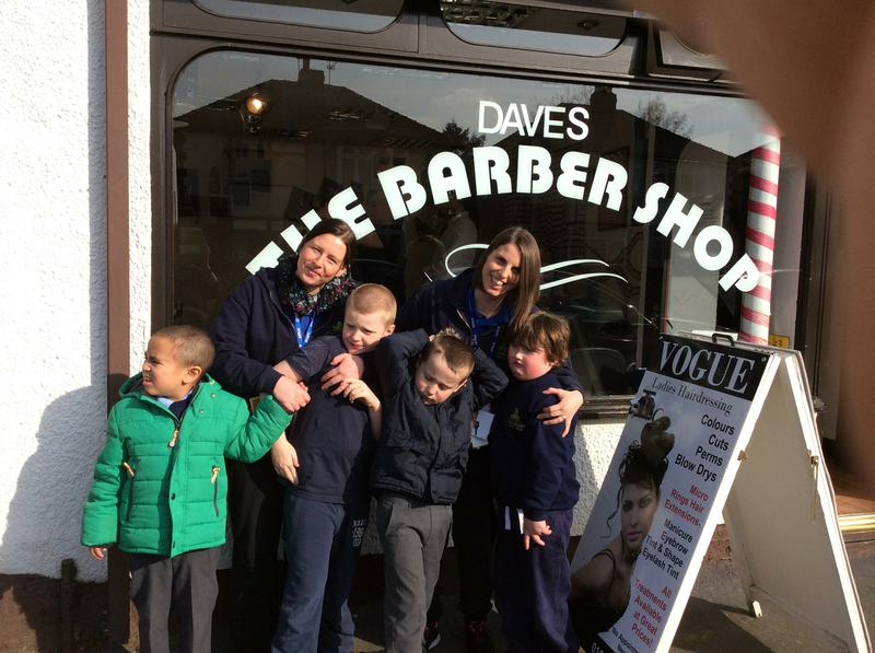 Week 1:We had our photo taken outside the barbers!