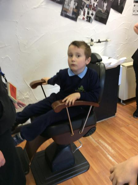 Week 4: We sat in the barbers chair for 2 minutes!
