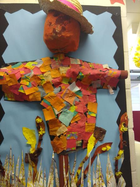 Our scarecrow for Harvest Festival