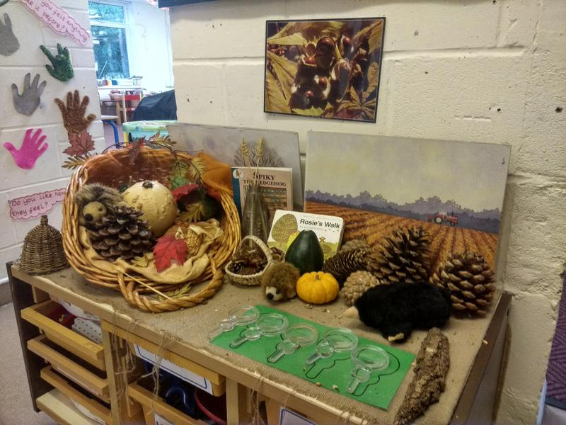 Autumn exploration table