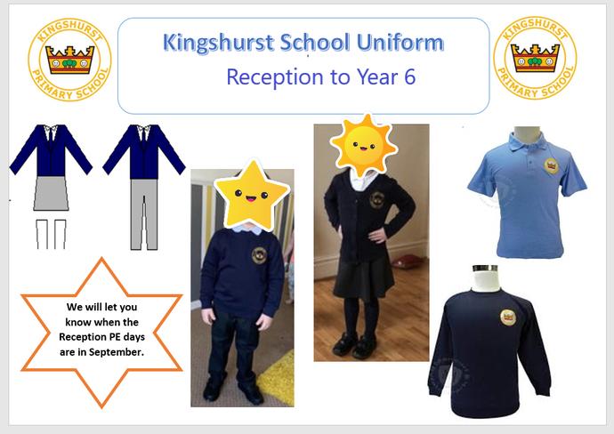 Reception to Year 6 Uniform